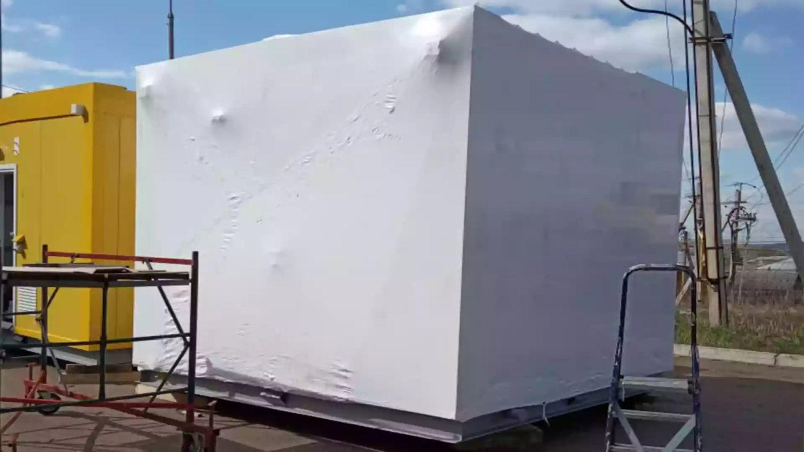Упаковка нефтепромыслового оборудования в термоусадочную пленку Fastpsack