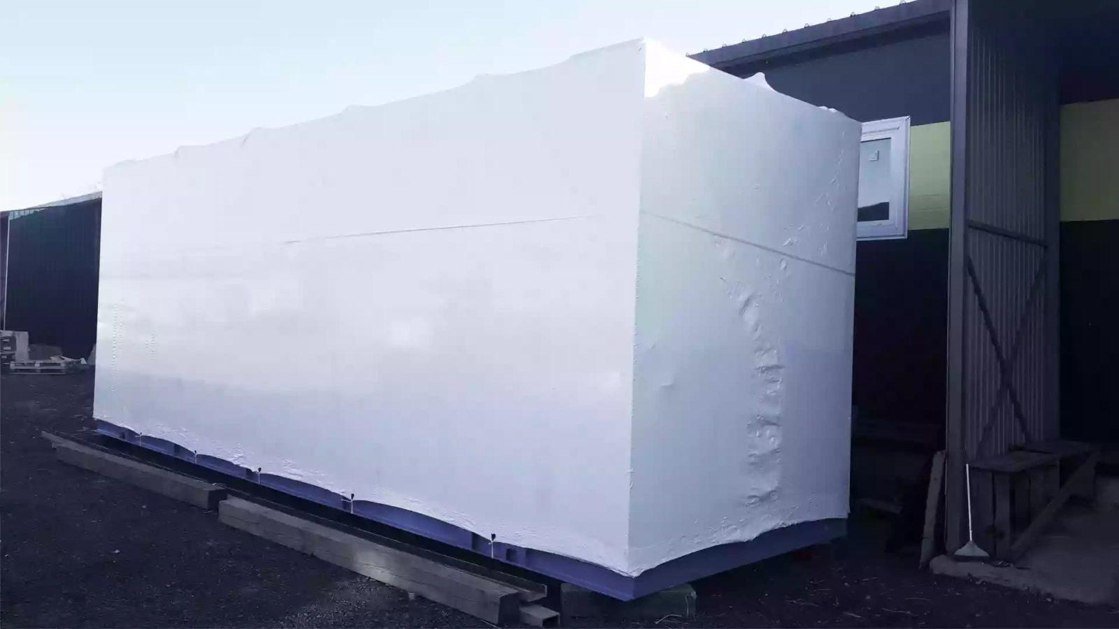 Упаковка трансформатора - это упаковка объекта без нижней плоскости в ПВД пленку