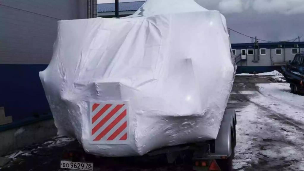 Упаковка яхты