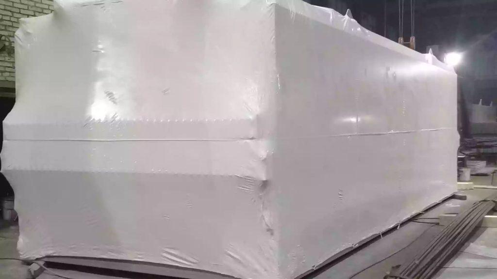 Упаковка блочно-модульного для транспортировки