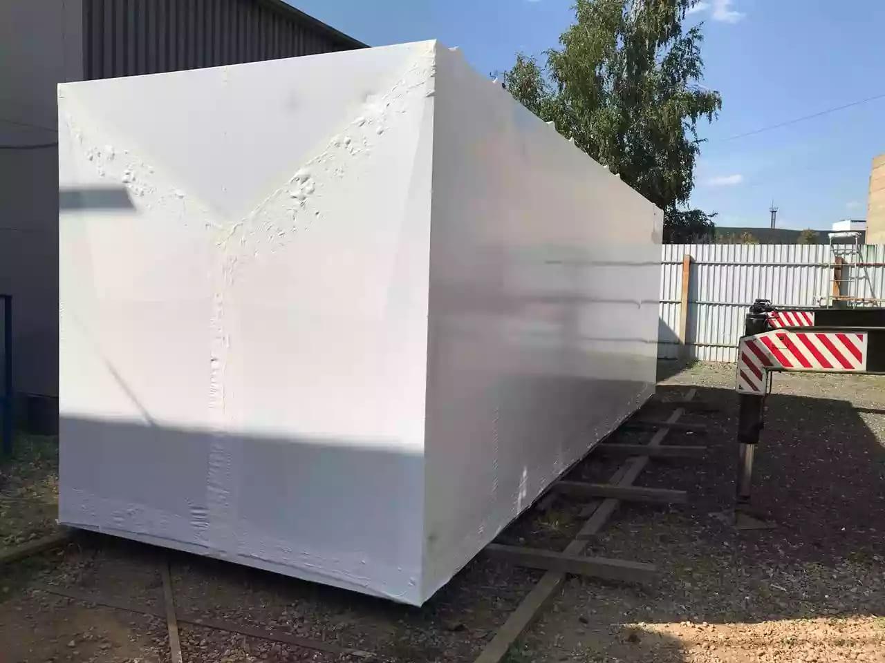 Промышленная термоусадочная пленка для упаковки блочно-модульного оборудования