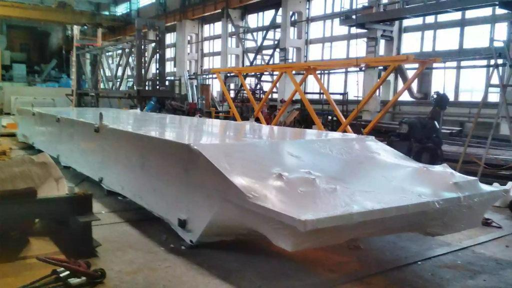 Упаковка металлоконструкции в термоусадочную пленку