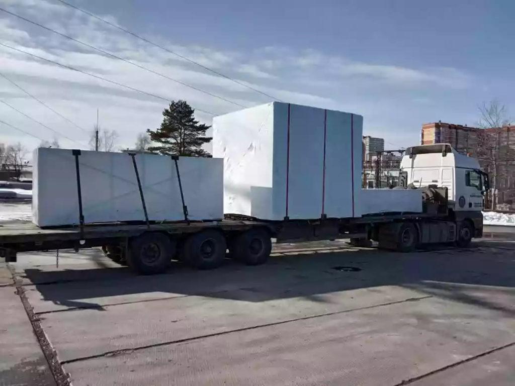 Упаковка крупногабаритного оборудования в термоусадочную пленку для перевозки