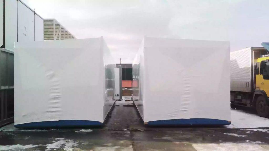 Упаковка блочно-модульного нефтегазового оборудования