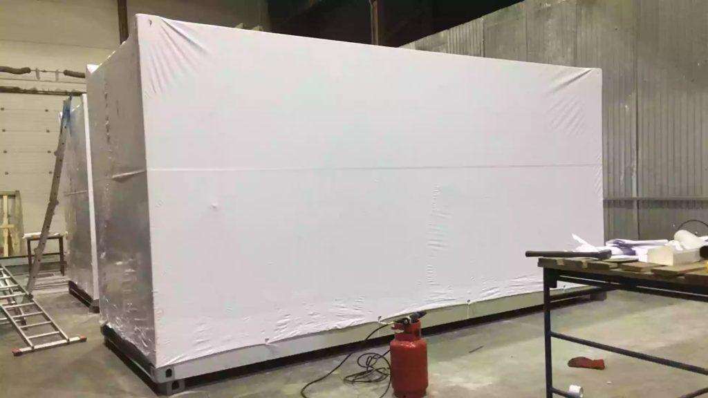 Упаковка БКТП и ТМГ в термоусадочную пленку