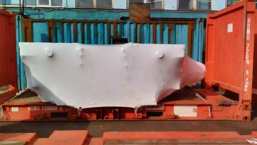 Упаковка объектов для перевозки в термоусадочную пленку