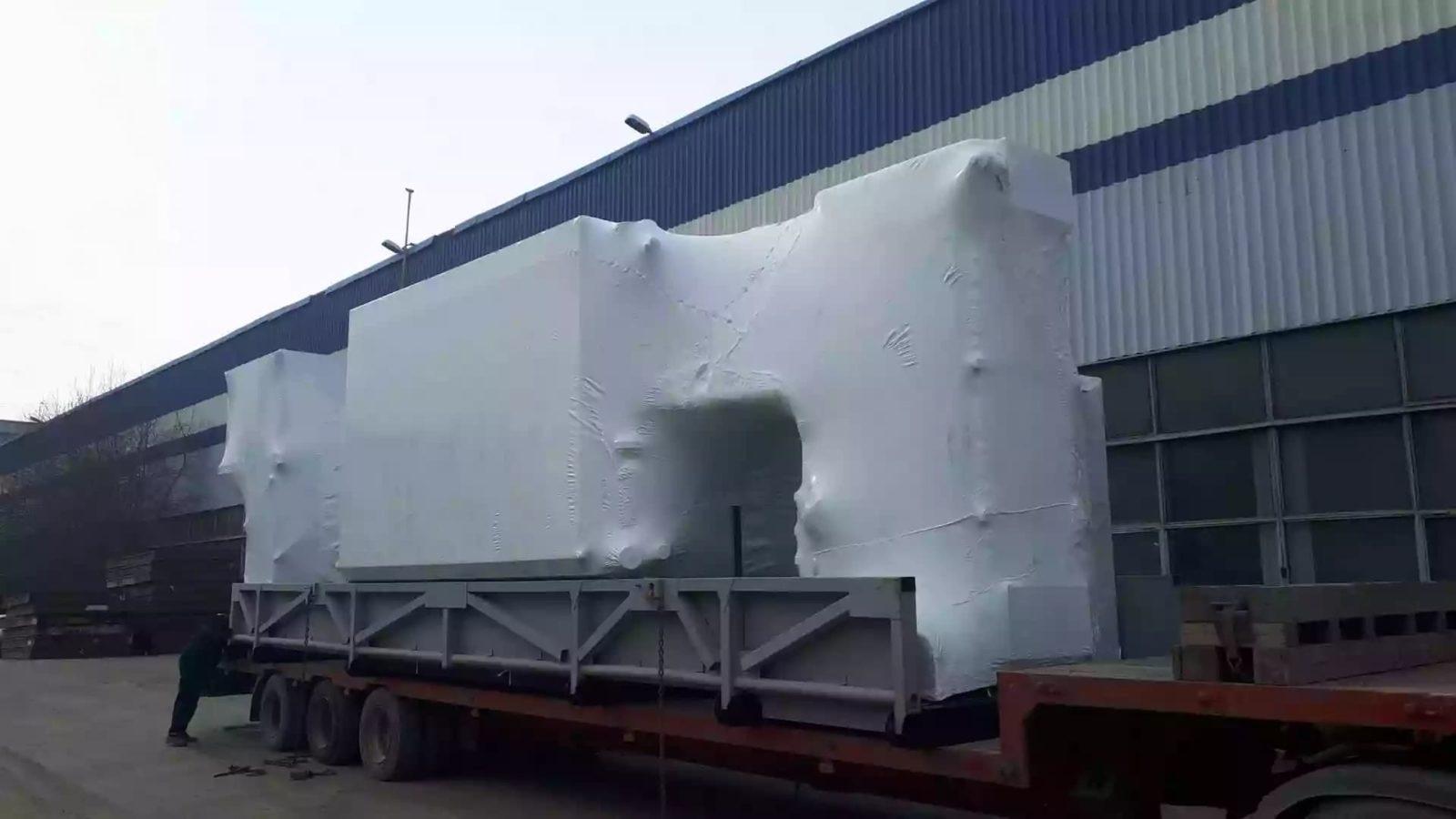 Промышленная упаковка негабаритного груза в термоусадочную пленку Фастпэк