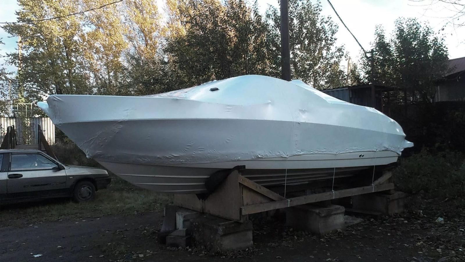 Специалистами FastPack был упакован катер длиной 8,5 метров.