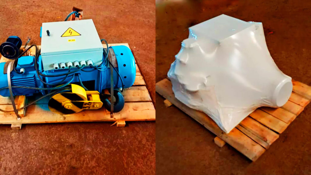 Упаковка оборудования в полиэтилен высокого давления 190, 210 и 250 микрон