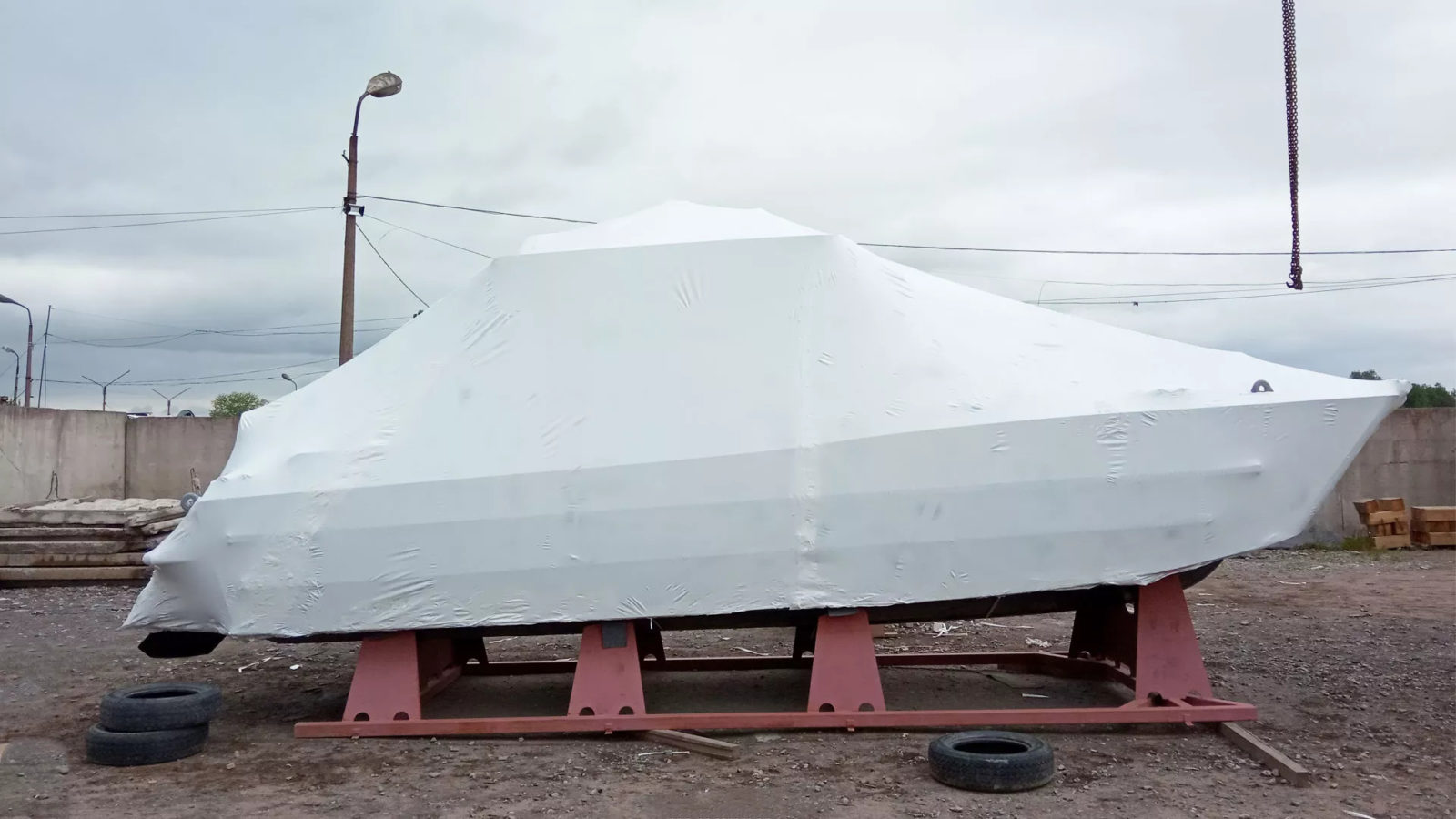 Упаковка катера для транспортировки в Сочи