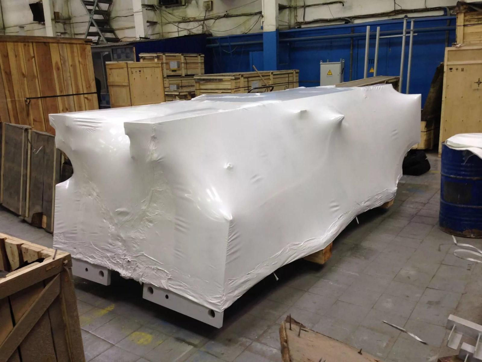 Термоусадочная упаковка FastPack предназначена для обеспечения целостности товара при транспортировки на достаточно большие расстояния, в том числе и по воде.