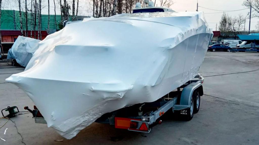 Упаковка катера для хранения в зимний период Упаковка катера для хранения в зимний период