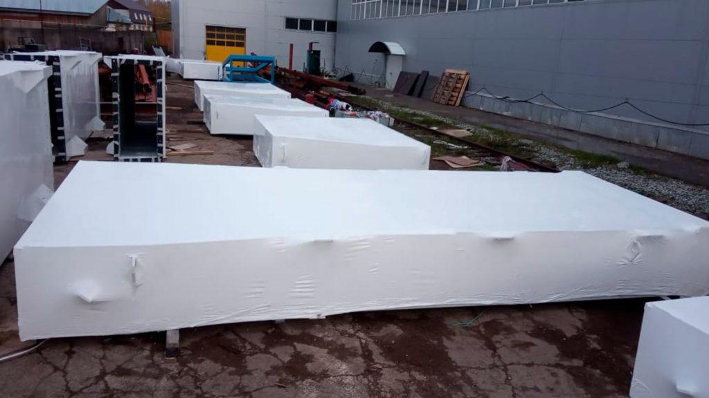 Для упаковки этого объекта мы использовали термоусадочную пленку 3,9*122 FP-39122/190