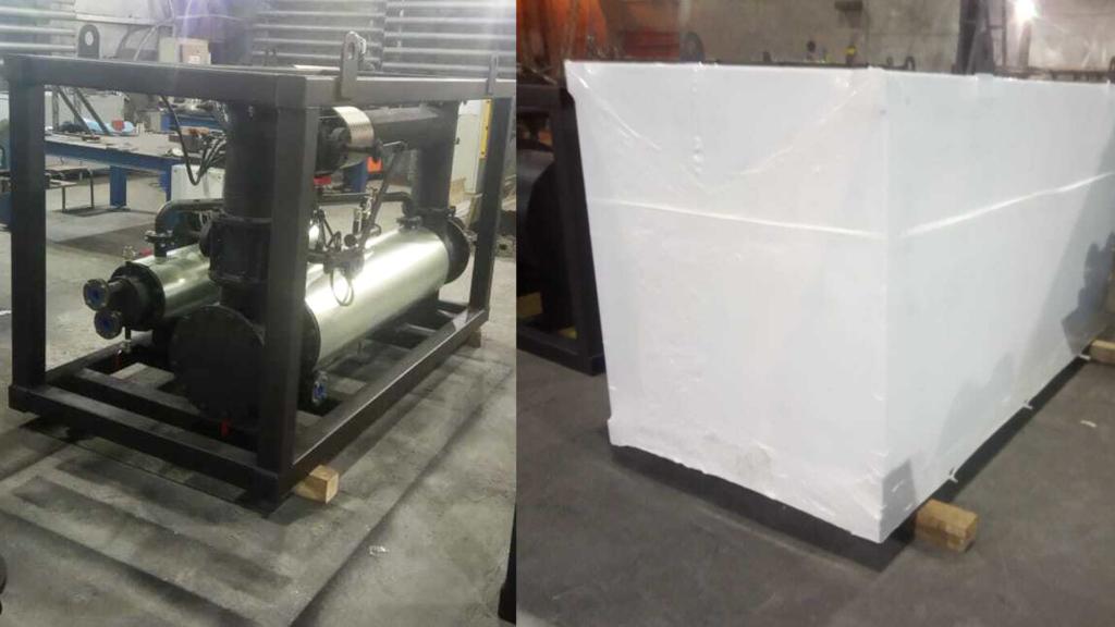 Упаковка груза в Балашихе в промышленную термоусадочную пленку для защиты во время перевозки