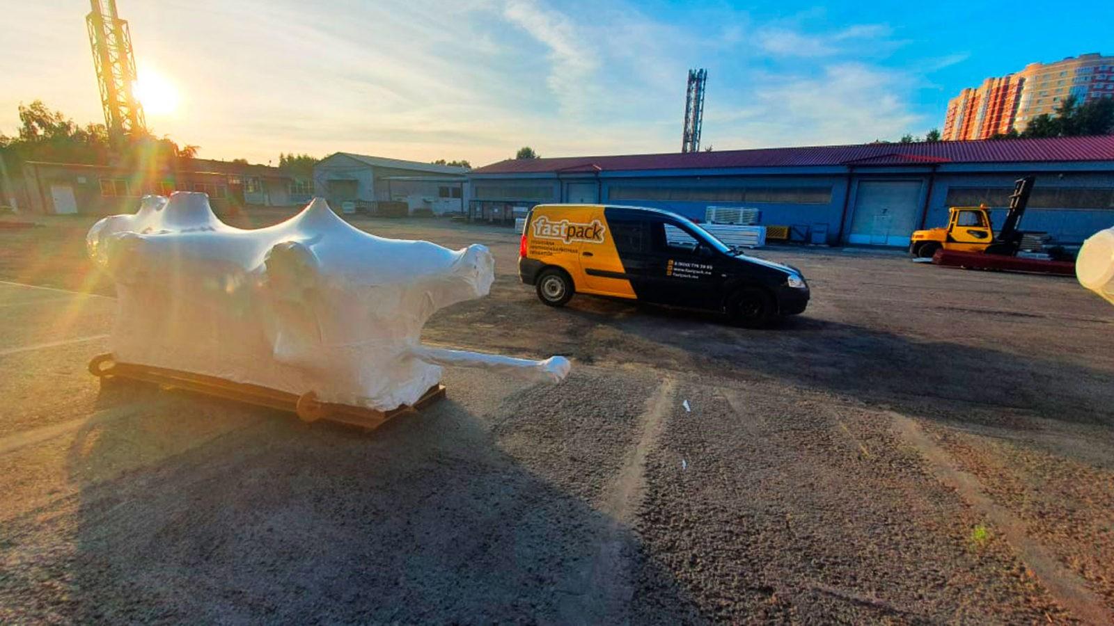 Упаковка груза в Краснодаре в пленку ПВД 190 мкм
