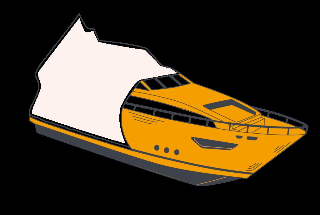 Упаковка лодки в термоусадочную пленку FastPack