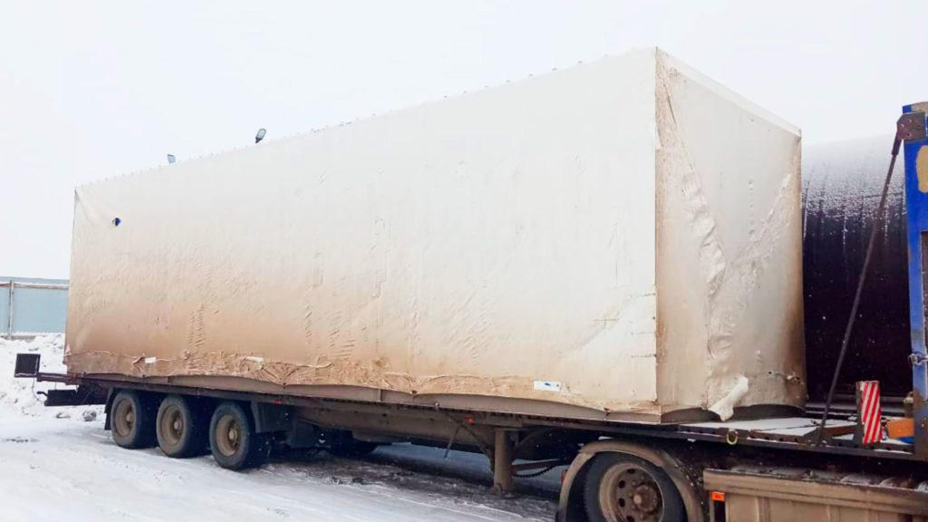 Упаковка груза в Брянске - пленка 190 микрон, время упаковки 60 минут, силами двух упаковщиков