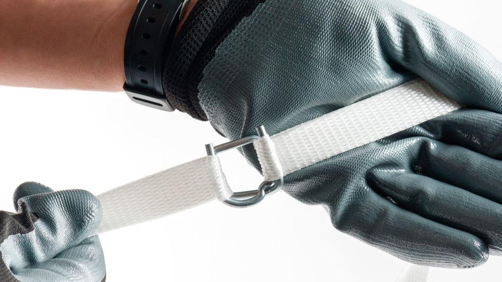 Ширина стропы тканной fp-600 19 мм. Поставляется в виде бобины с намоткой 600 м п.
