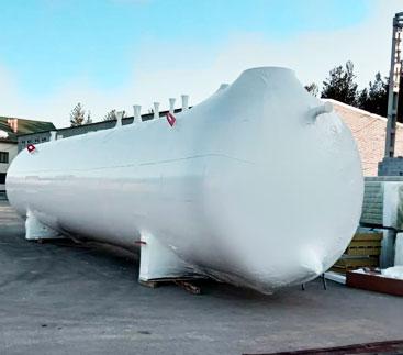 Упаковка резервуара термоусадочной пленкой