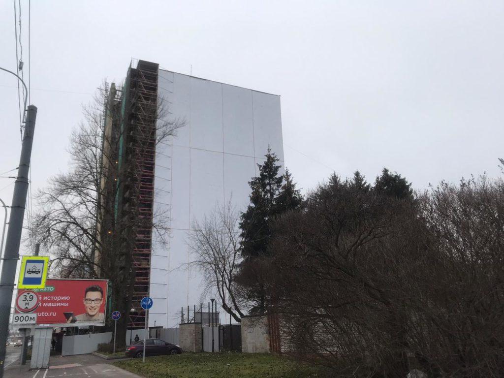 Консервация зданий ПВД пленкой